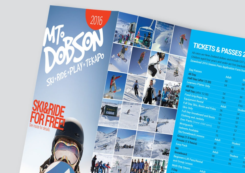 Mt Dobson flyer design