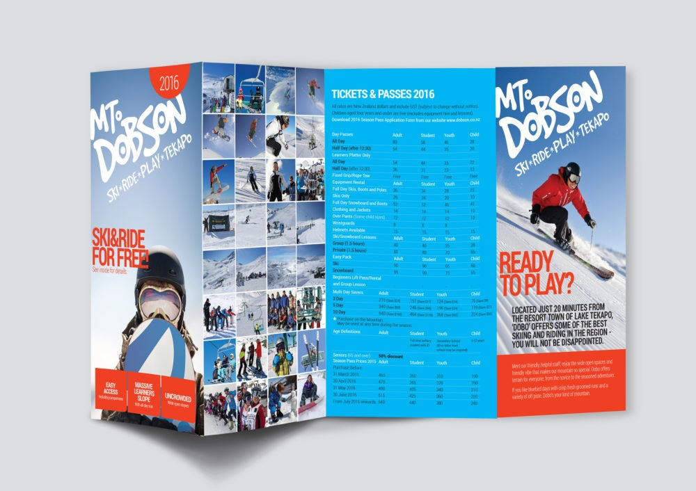 Mt Dobson brochure design