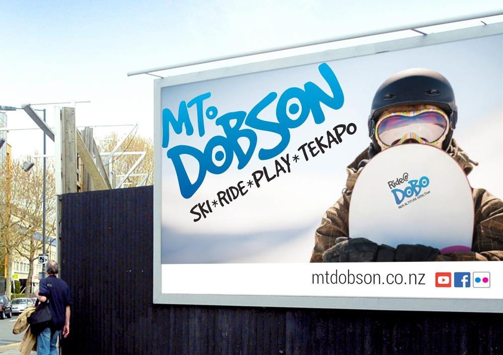 Mt Dobson billboard