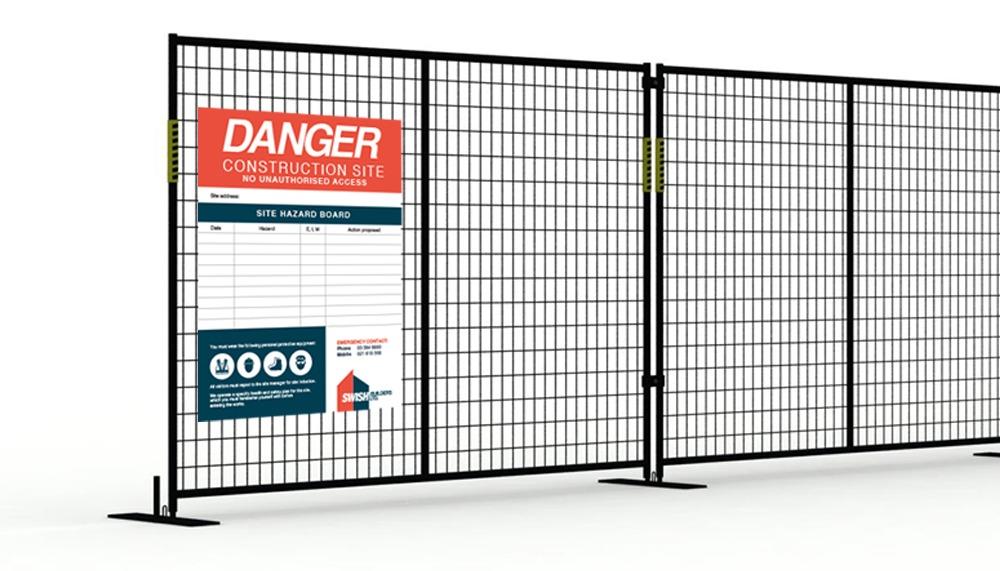 fence sign design