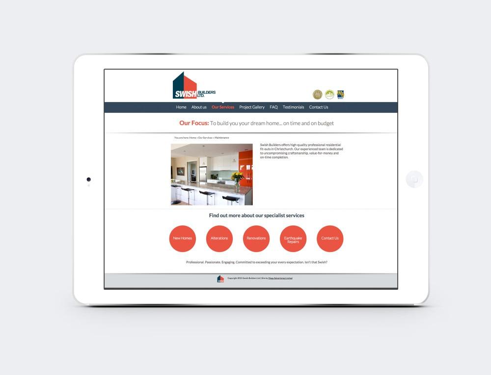 Ipad responsive website design