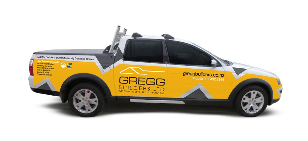 Gregg builders lets car signage