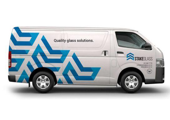 Stake Glass Van Signage