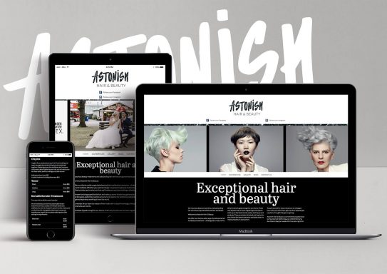 Astonish Hair and Beauty Website