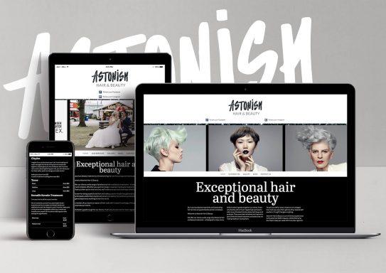 Astonish Hair and Beauty Website
