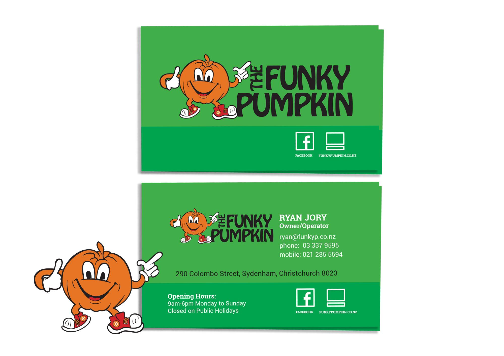 The Funky Pumpkin Business Card