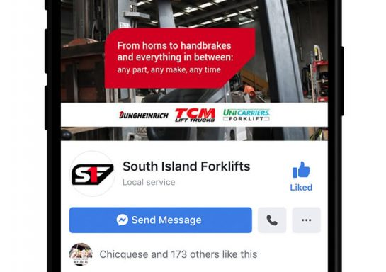 South Island Forklifts Social Media