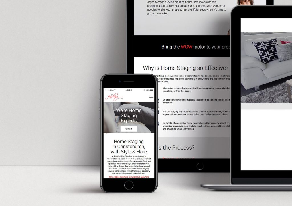 The Finishing Touches - Website designed and developed by Pinnacle&Co.
