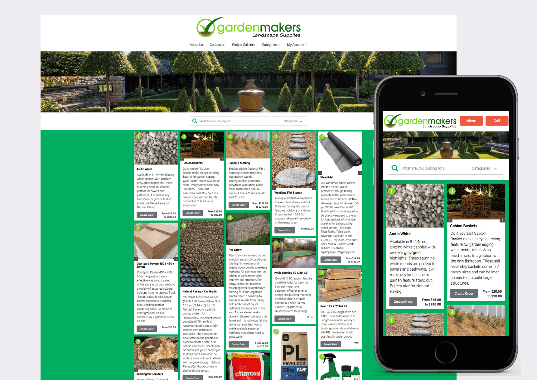Garden Makers Website • Pinnacle&Co  Ltd