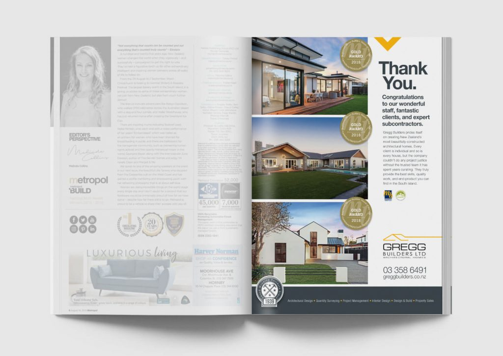 Magazine advert design christchurch