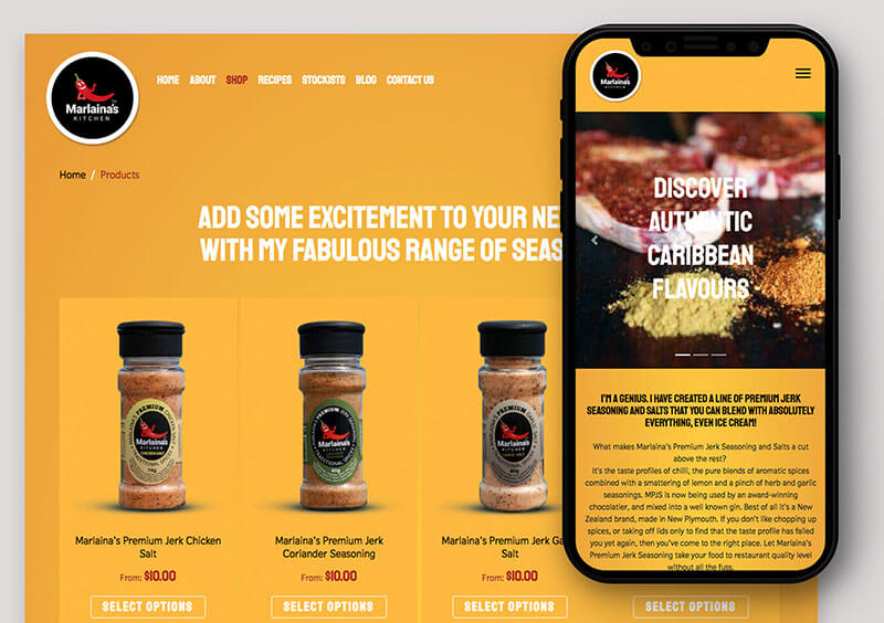 Marlaina's Kitchen Website Design