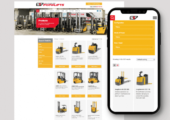South Island Forklift Website
