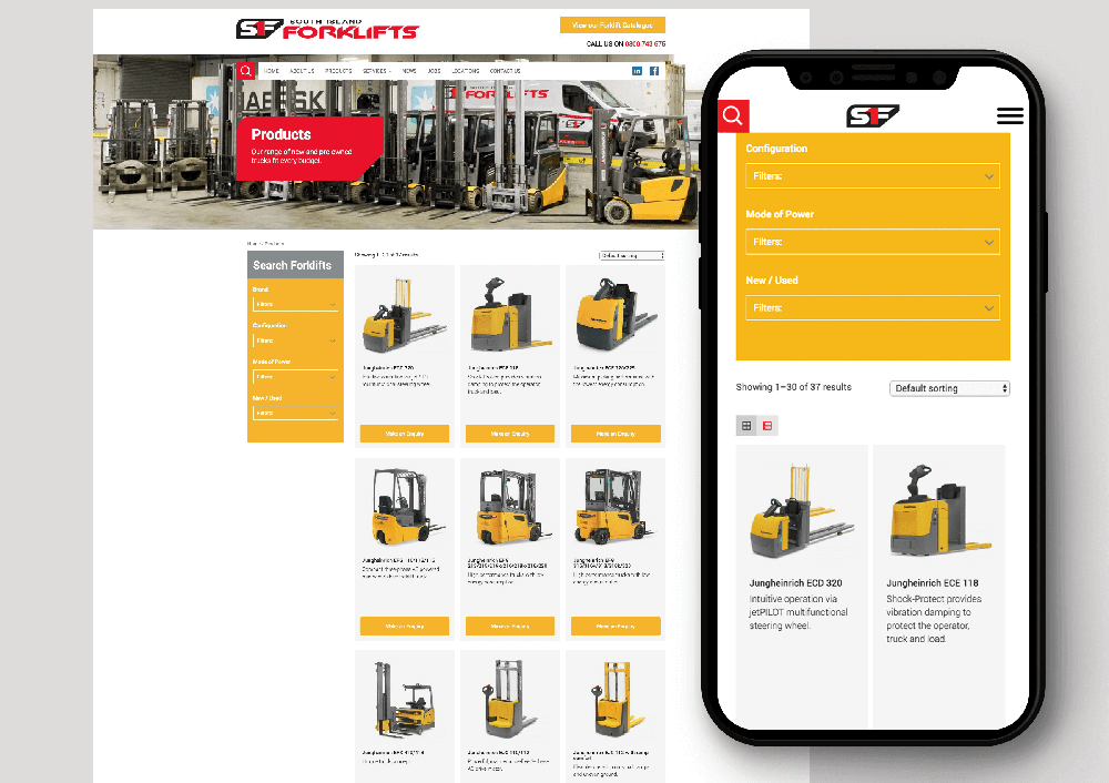 Pinnacle&Co. Portfolio - South Island Forklifts Website
