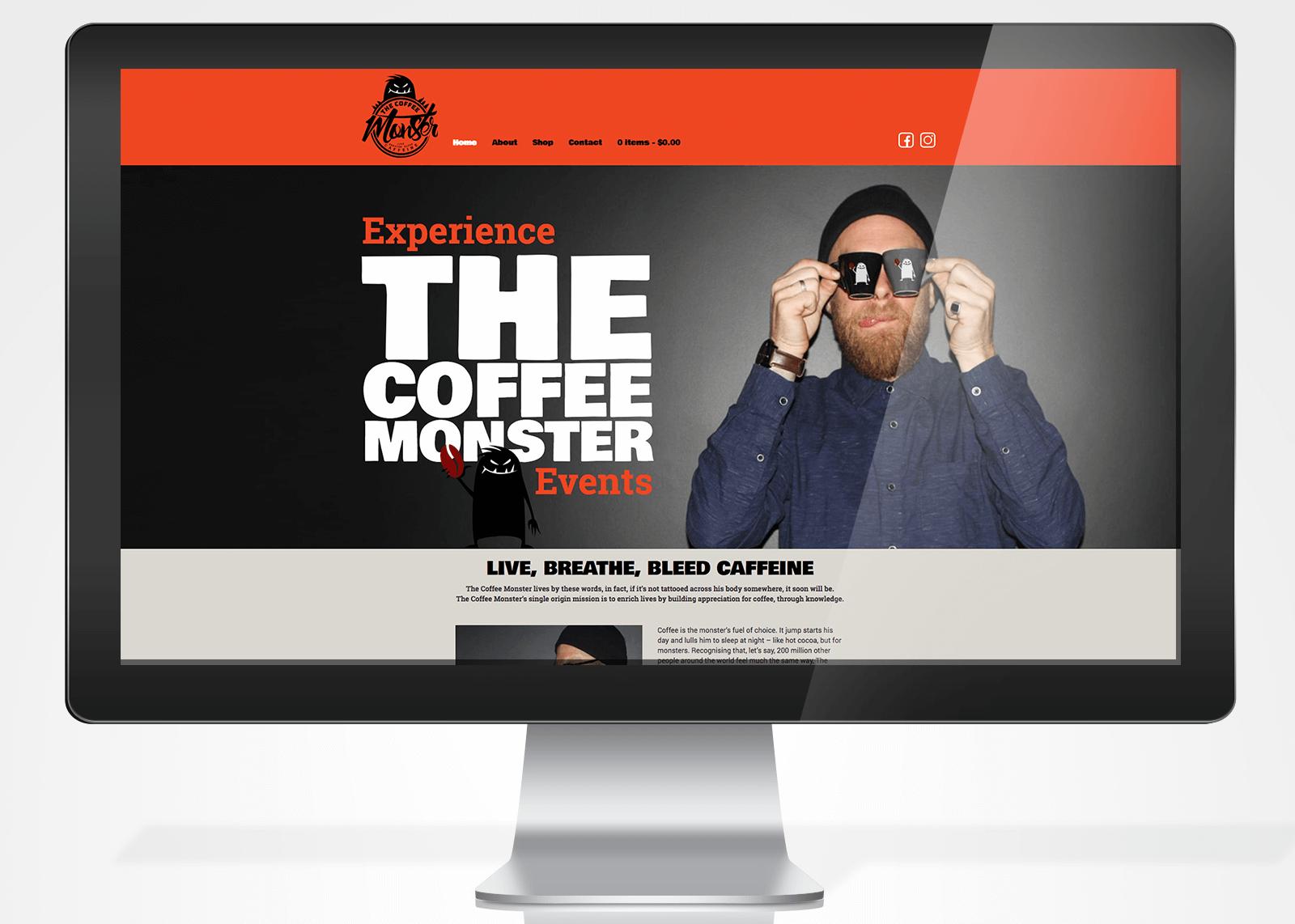 The Coffee Monster Website Design