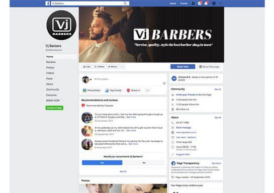 VJ Barbers Social Media