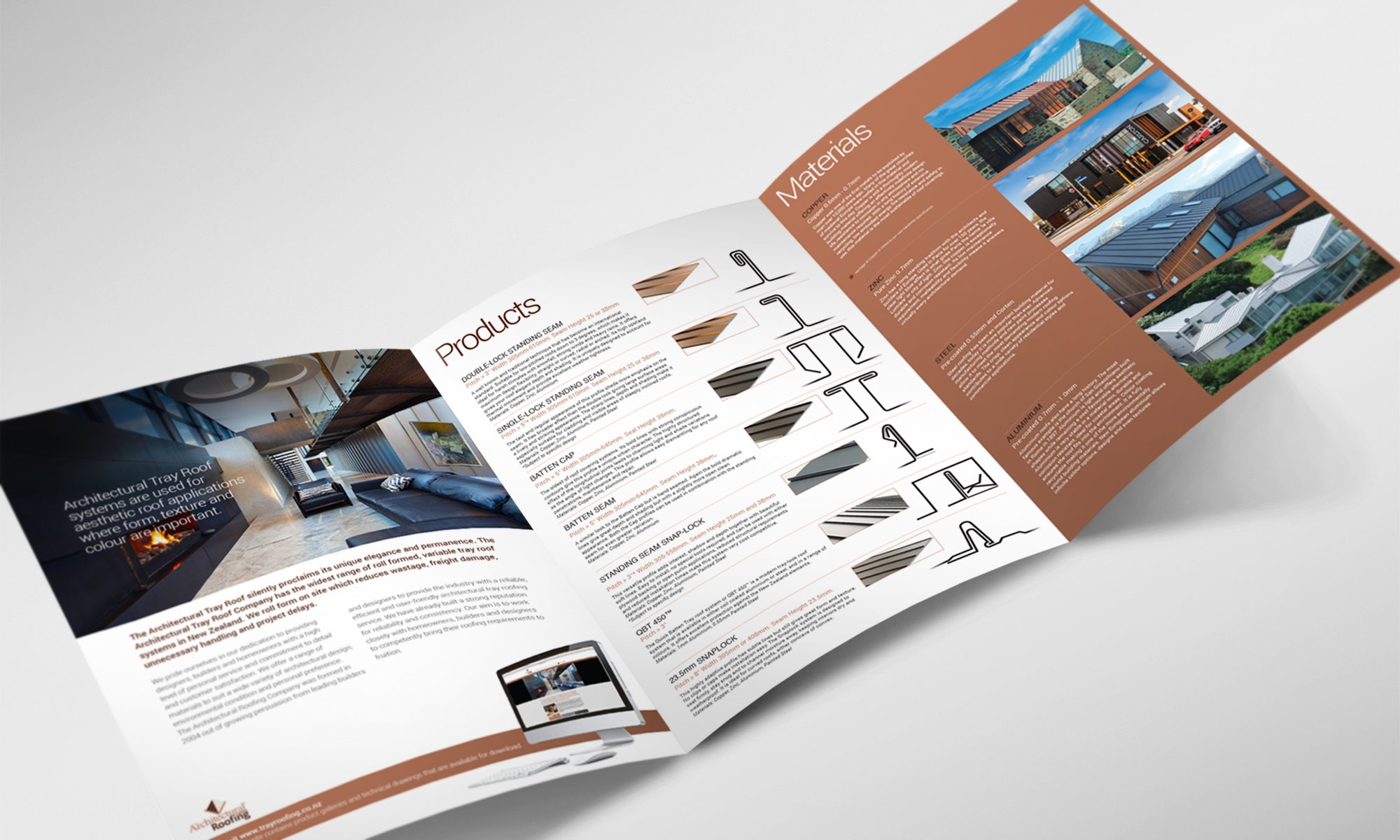 Architectural roofing brochure
