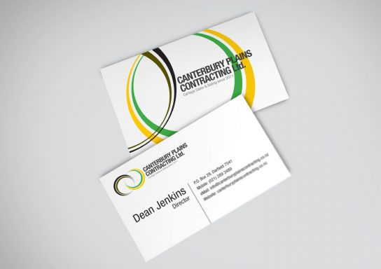 Canterbury Plains Contracting Business Card