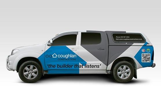 Coughlan Construction Vehicle Signage
