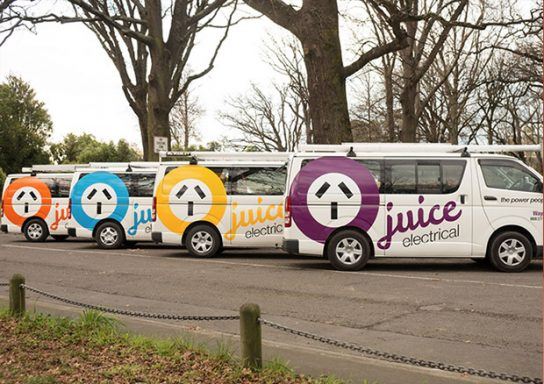 Juice Electrical Vehicle Signage
