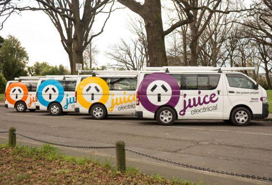 Juice Electrical Vehicle Signage