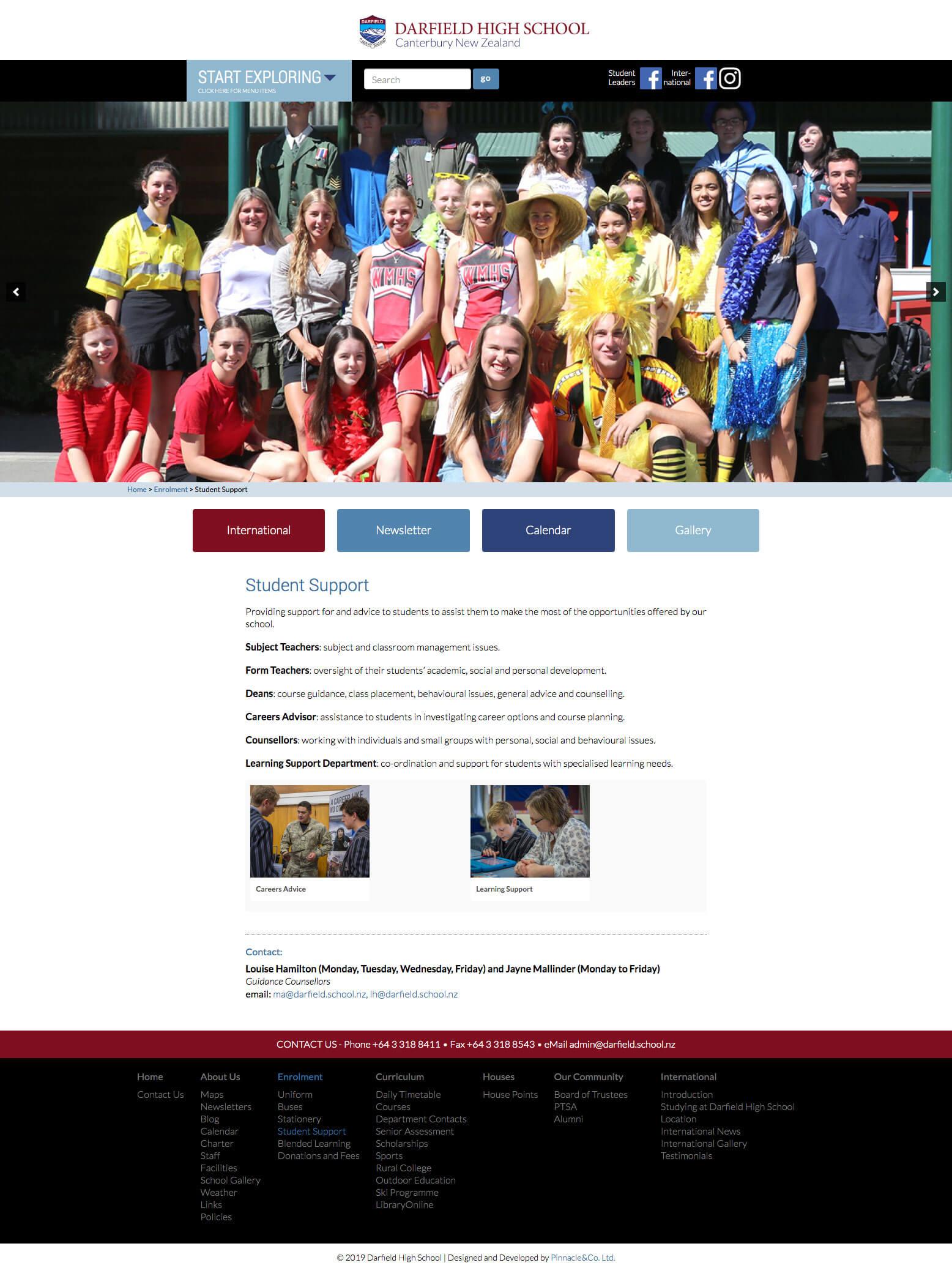 Darfield High School Website