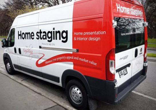 The Finishing Touches Van Signage